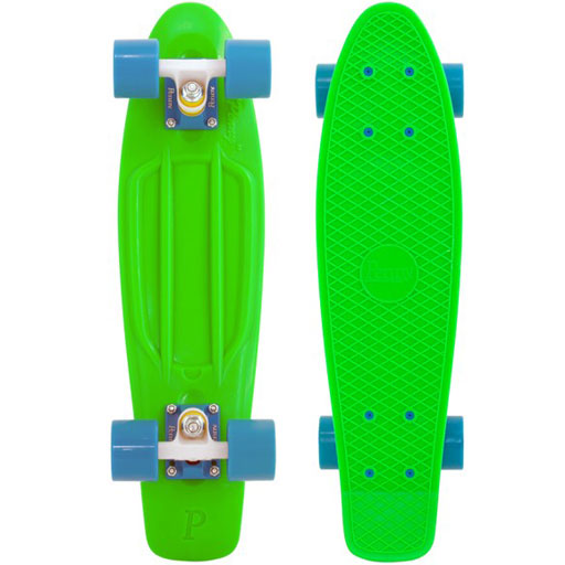 "Penny 22"" Skateboard Complete (Fluorescent Green/White/Blue) $99.95"