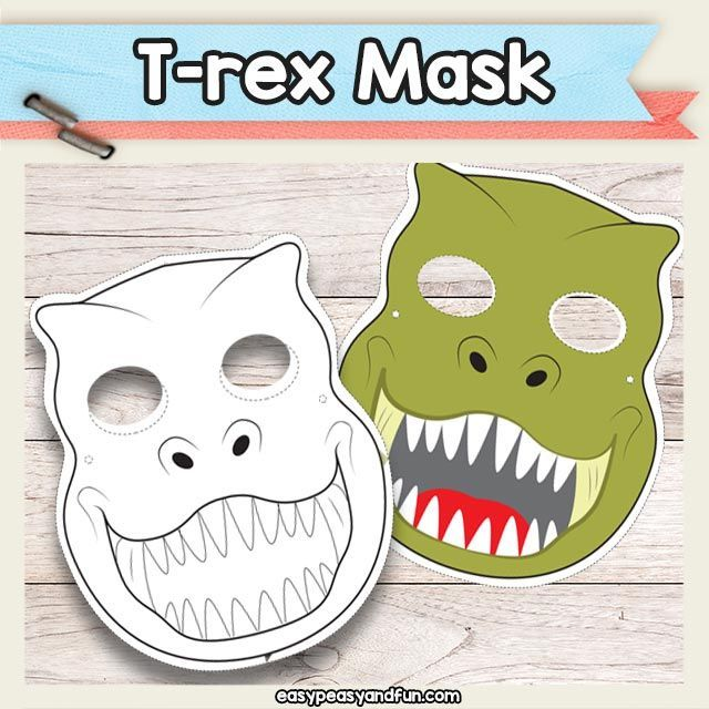 Printable T-Rex Dinosaur Mask Must do Crafts and Activities for