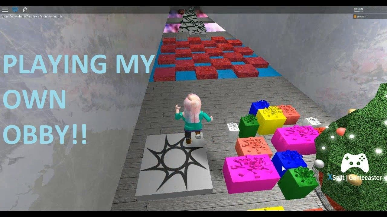 Roblox Obby Playing My Own Obby Roblox Play Youtube Videos