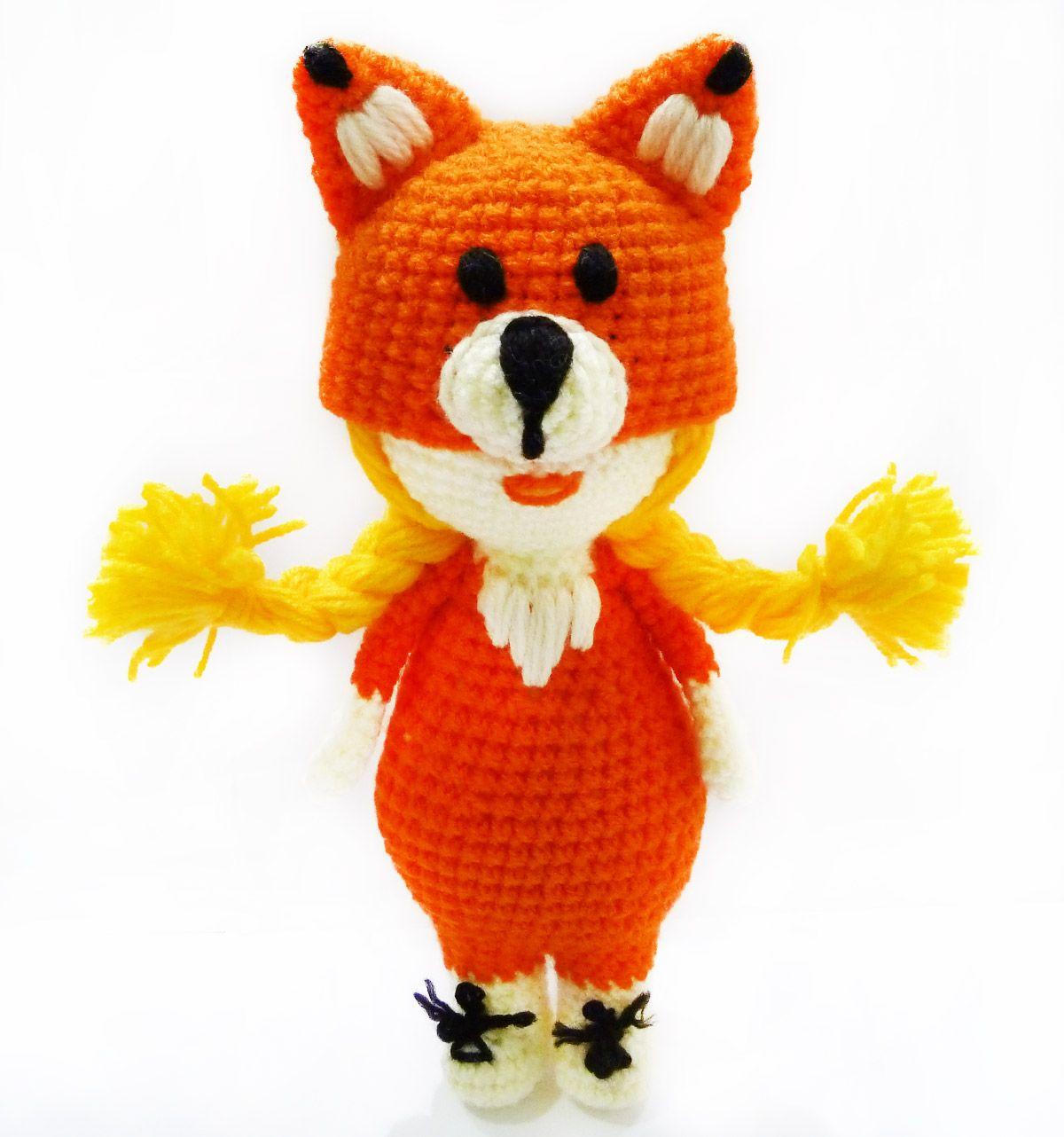 Foxy girl crochet toy Fufoni crochet with love