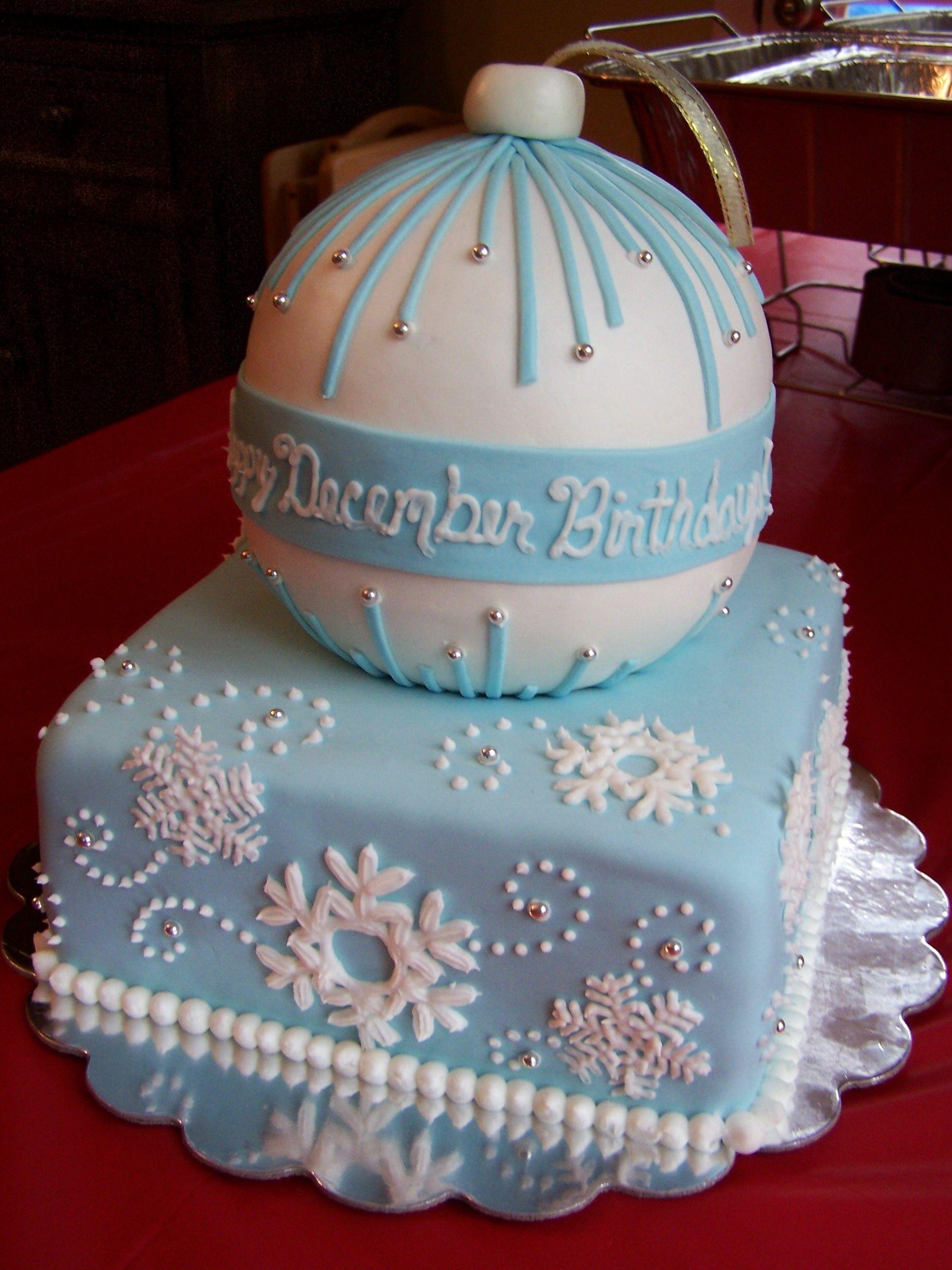 Winter Wonderland Christmas Cake Cake Blue Birthday Cakes