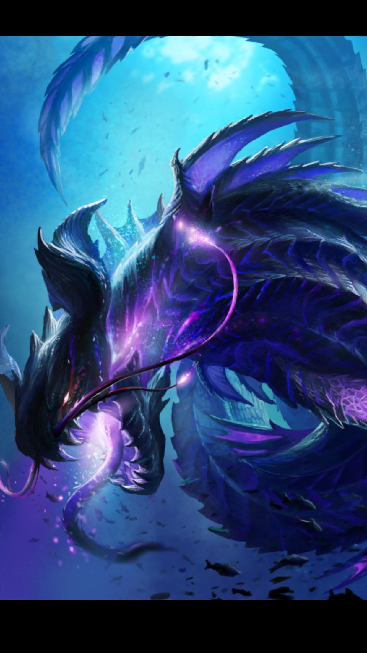Blue Dragon Awesome Fierce Brutal Fantasy Sci-fi And Purple Concept Art