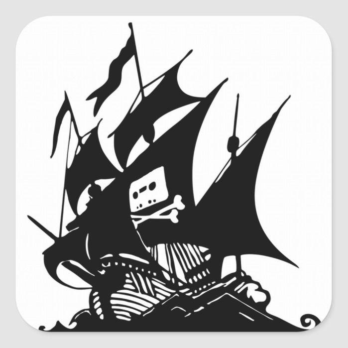 Thepiratebay Halloween 2020 The Pirate Bay Square Sticker   Zazzle.in 2020   Pirate bay