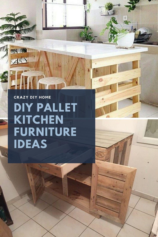 DIY Pallet Kitchen Furniture Ideas in 7  Pallet diy, Pallet