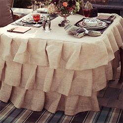 Delightful How To Sew A Ruffled Burlap Tablecloth, As Seen In My Ralph Lauren Inspired  Dinner