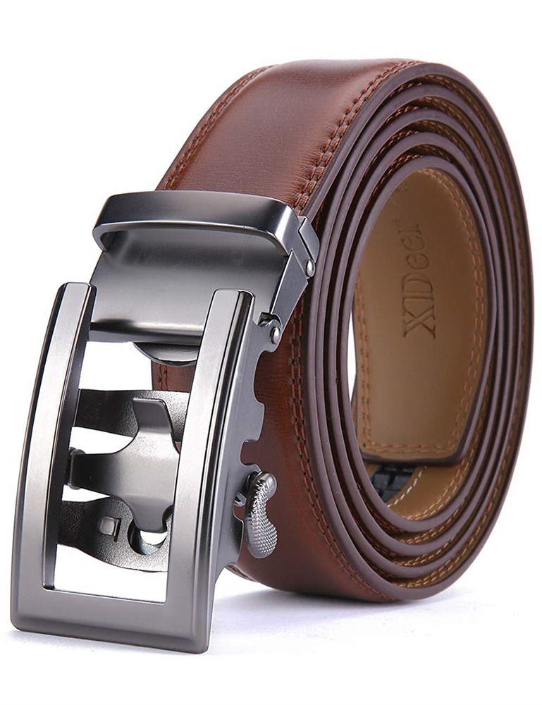 "35mm Wide Black Brown Tan Men/'s Genuine Leather Casual Dress Belt 1-3//8/"""