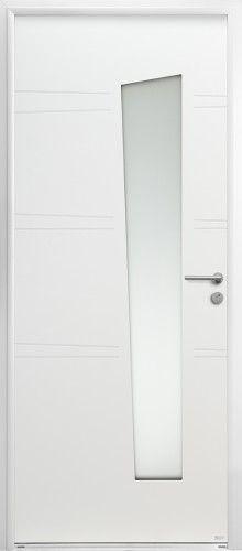 Modèle Iraty Porte Du0027entrée Aluminium Contemporaine Petit Vitrage Vitrage  Rectangulaire Destructuré Qui Fait Entrer