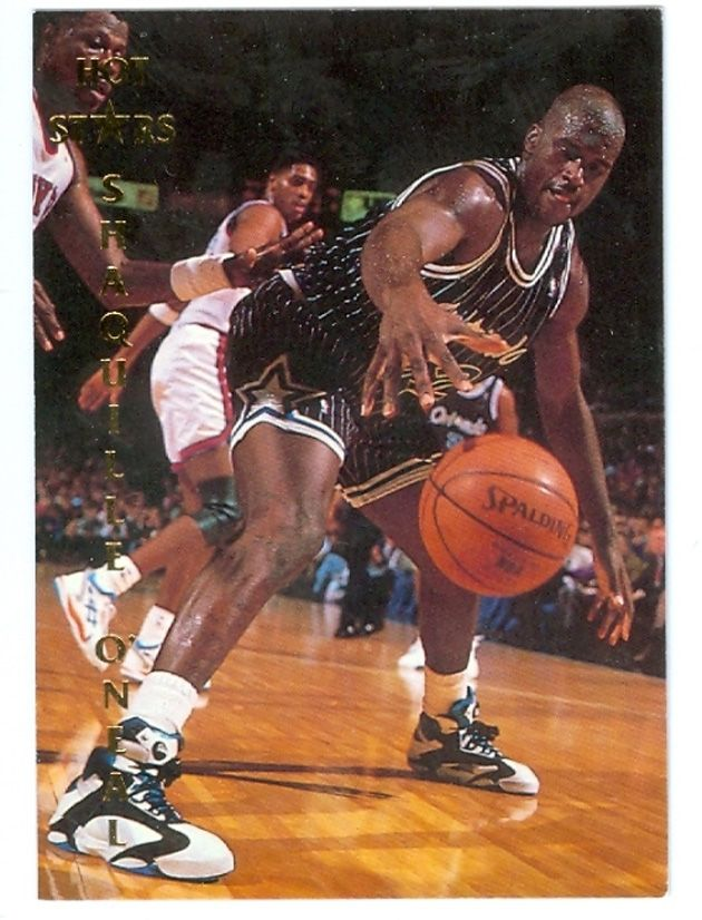 5e8ef6f95a8e Shaquille O Neal wearing Reebok Shaq Attack