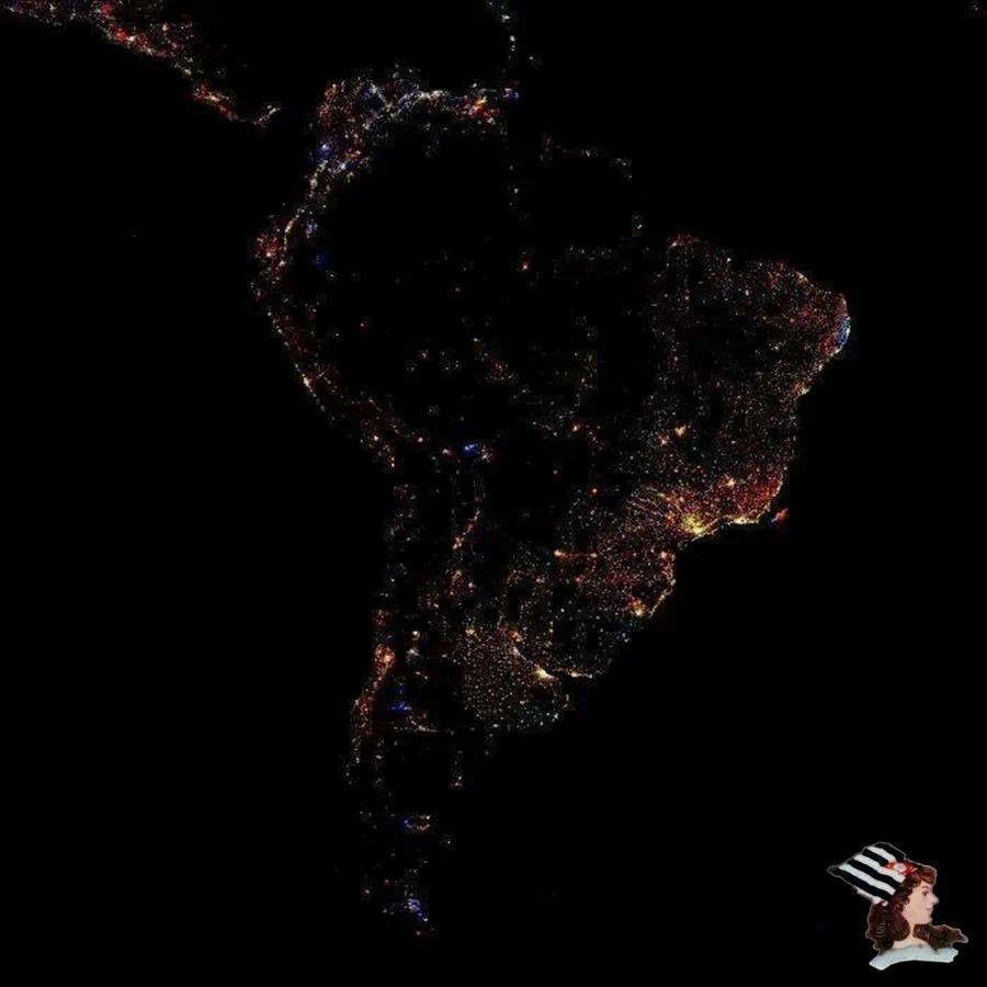 America Del Sur A Noche Espacio Y Astronomía America Del Sur Fotos