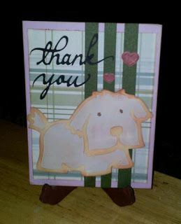Using Cricut cartridge Paper Pups and Beyond Birthdays for three different thank you cards