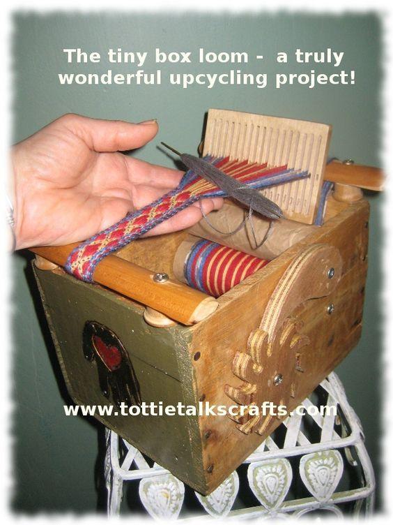 Upcycled Box Into Band Loom Tablet Weaving Weaving Loom Diy Card Weaving
