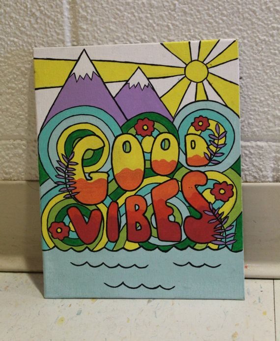 good vibes canvas paintingmvcanvases on etsy | my paintings