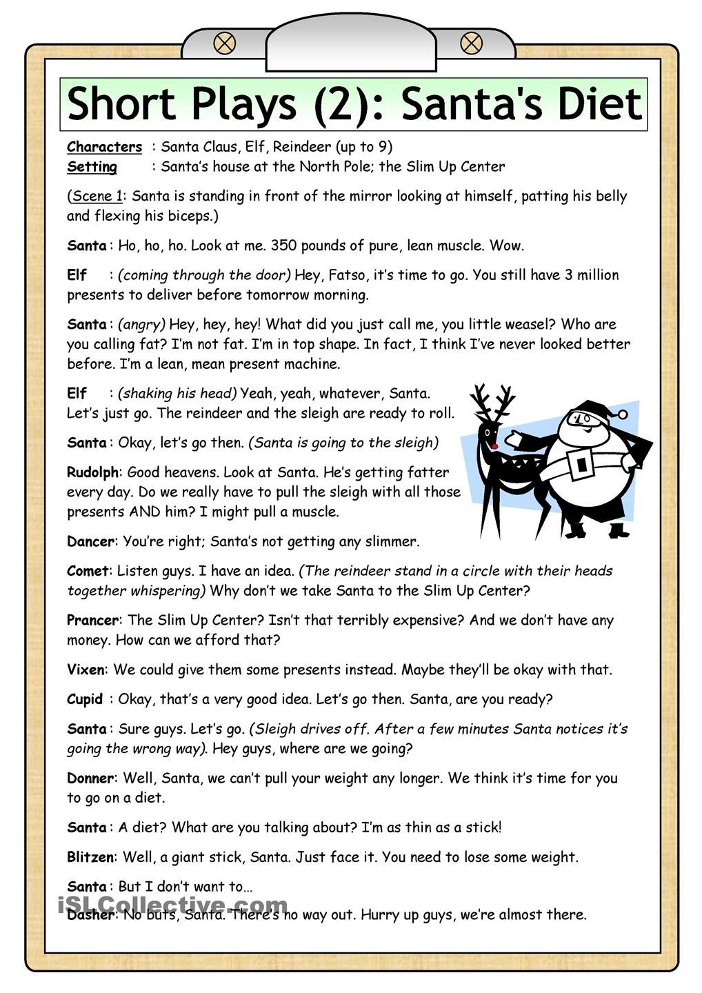 Uncategorized Christmas Grammar Worksheets short plays 2 diet christmas pinterest funny play for 10 characters can be reduced to or increased by reassigning the lines