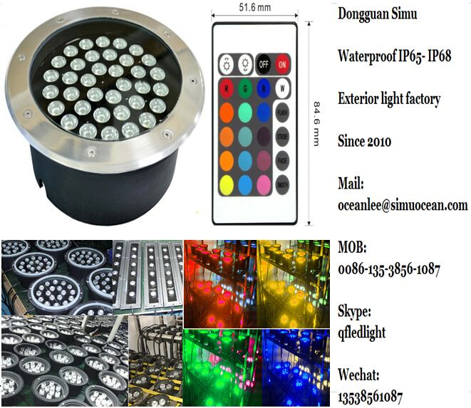Smart RGB outdoor garden landscape pool spike lighting from Dongguan simu hardware lighting co,ltd. Auto change color or RF remote control color change or infrared control Smart color change or Wifi control or DMX Control led outdoor lighting