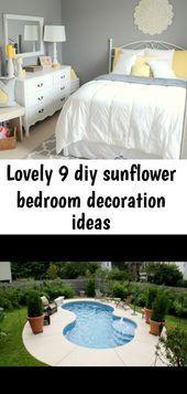 Lovely 9 diy sunflower bedroom decoration ideas #sunflowerbedroomideas Lovely 9 diy sunflower bedroom decoration ideas #sunflowerbedroomideas