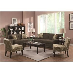Coaster Finley Stationary Living Room Group   Del Sol Furniture   Upholstery  Group Phoenix, Glendale