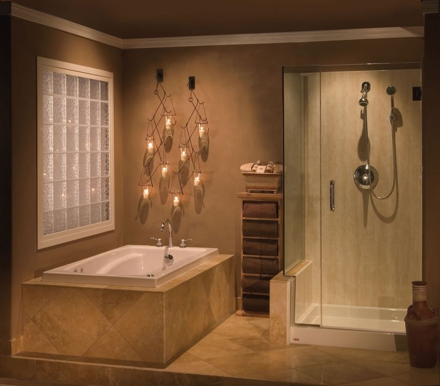 Bathroom Tubs and Showers Ideas Separate Tub and Shower Options