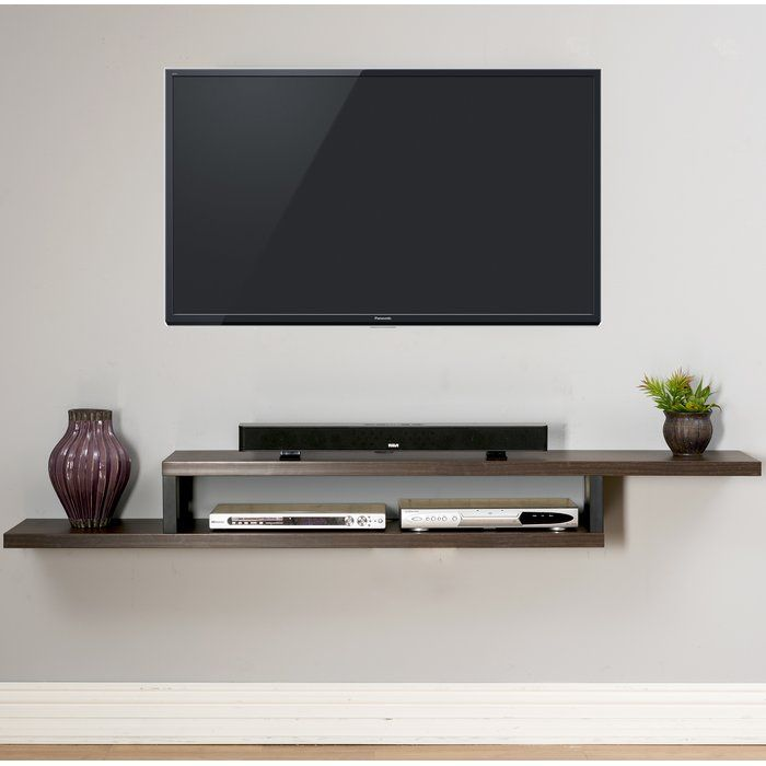 Ascend Wall Mounted TV Stand Homebedrooms Pinterest Mounted Custom Floating Wall Shelves For Tv Components
