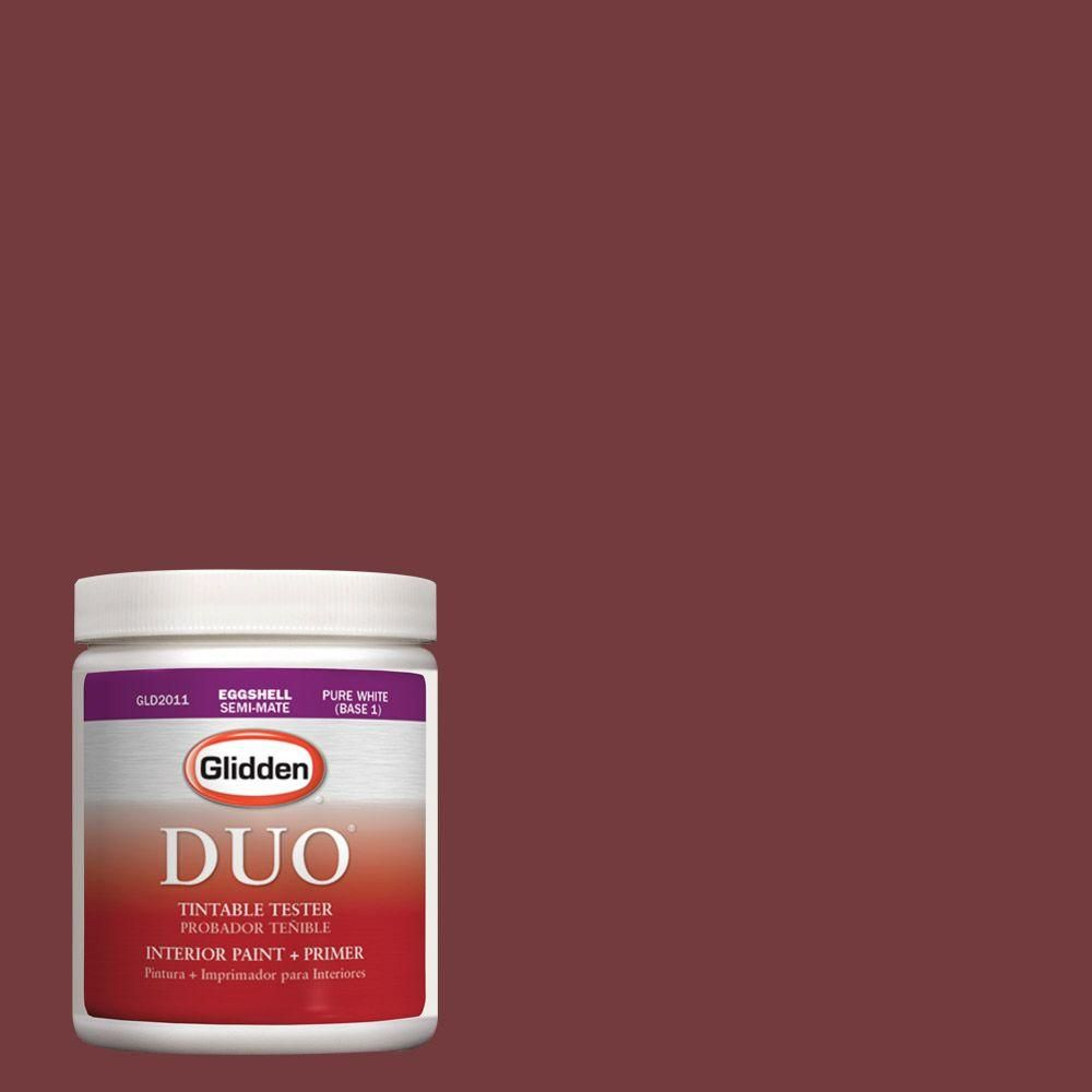 Glidden DUO 8 oz. #HDGR52 Classic Burgundy Latex Interior Paint Tester