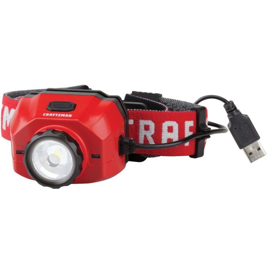 Craftsman 500 Lumen Led Rechargeable Headlamp Battery Included Rechargeable Headlamp Headlamp Led