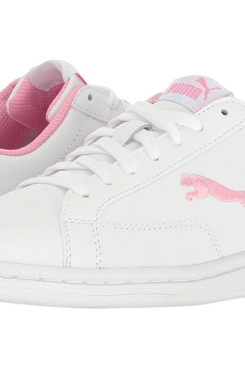 dc2c63e264af ... spain puma kids smash cat l jr big kid puma white prism pink girls  shoes puma