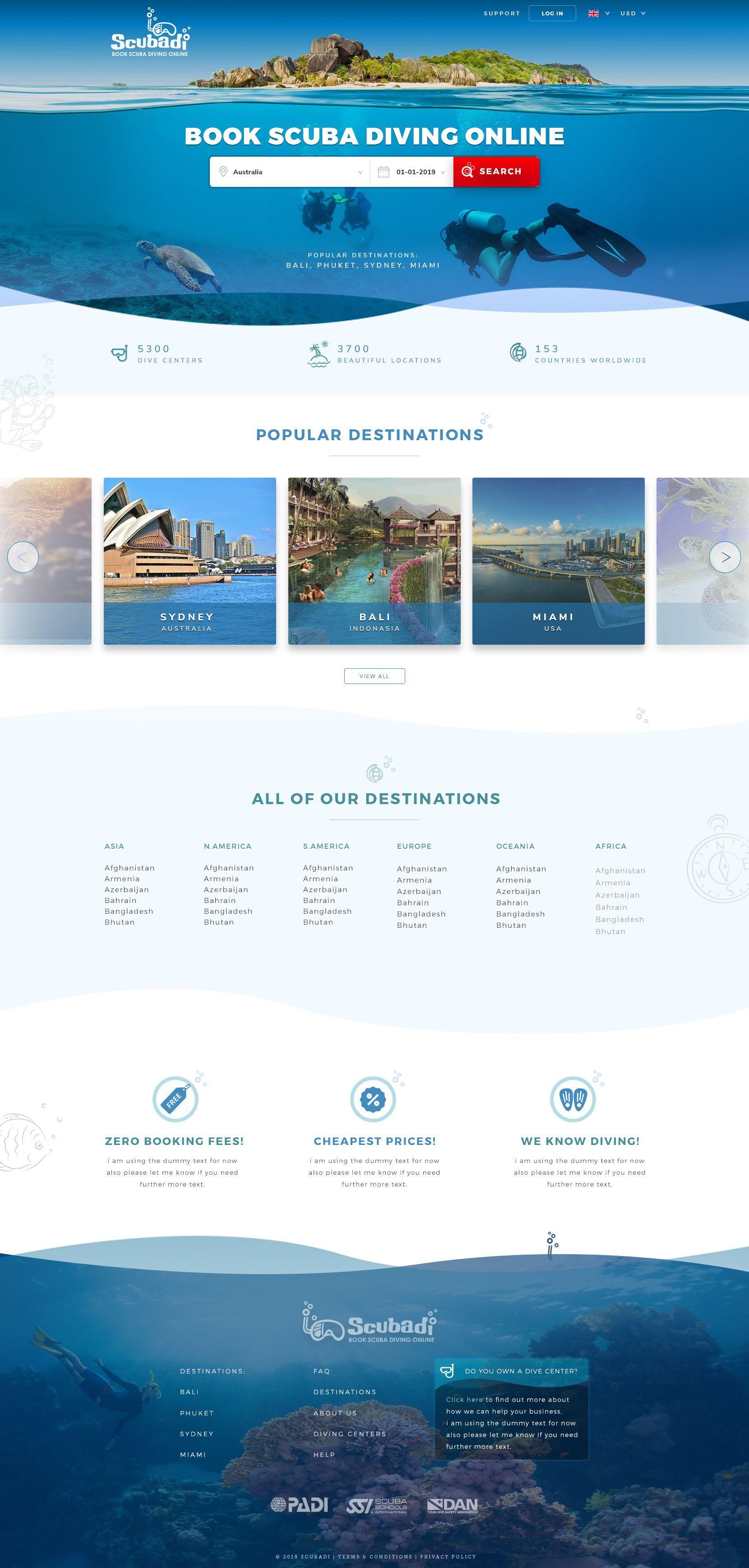 Design 27 By Simplest Scuba Diving Website Needs Professional Website Design Professional Website Design Website Header Design Webpage Design