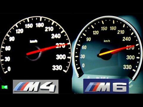 Bmw M4 Vs M6 Acceleration Sound Onboard Autobahn V8 Biturbo Launch Control