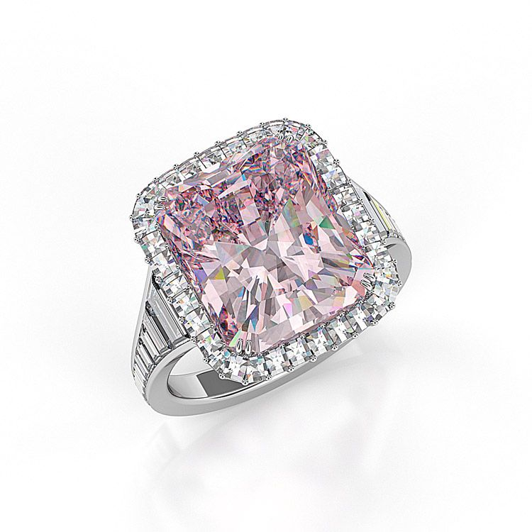 10 Carat Radiant Pink Diamond Ring Of Fire Pink Diamond Engagement Ring Pink Diamond 10 Carat Diamond Ring