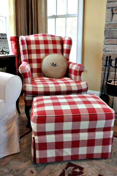 Love This Gingham Set Even Has My Initial On The Pillow