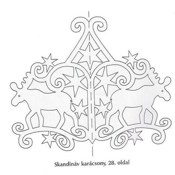 Pin Snowflake Stencil Cake