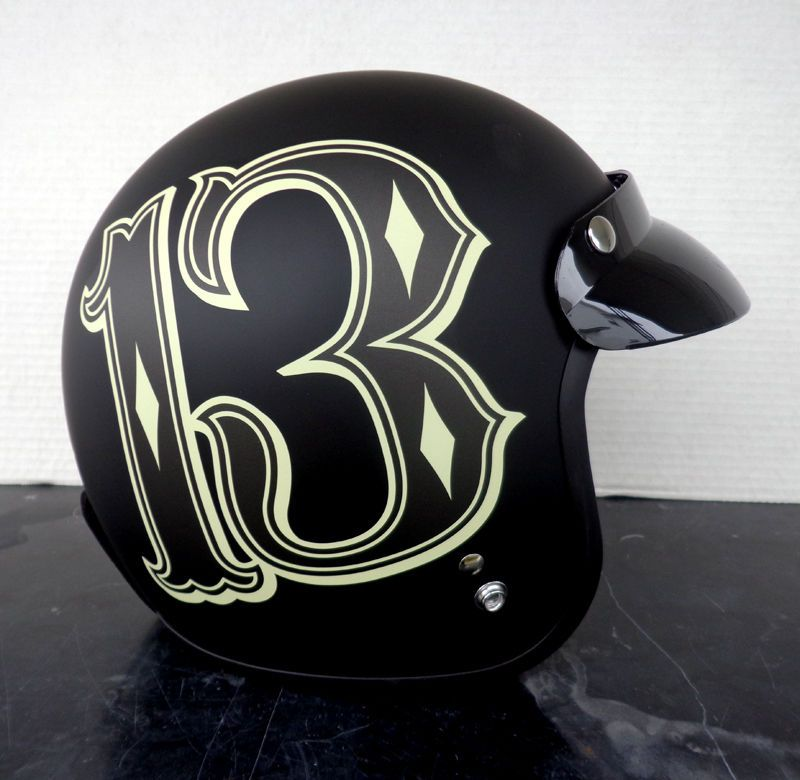 Lucky 13 helmet motorcycle #LUCKY13 #motorcycle #helmet #biker #chopper #bobber #race