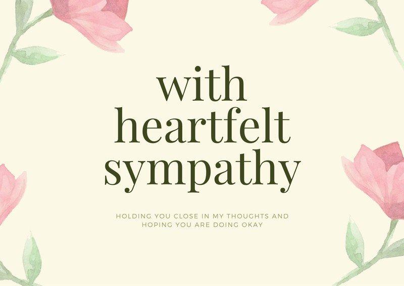 Free And Printable Custom Sympathy Card Templates Canva With Sympathy Card Template In 2020 Sympathy Cards Card Templates Printable Card Template