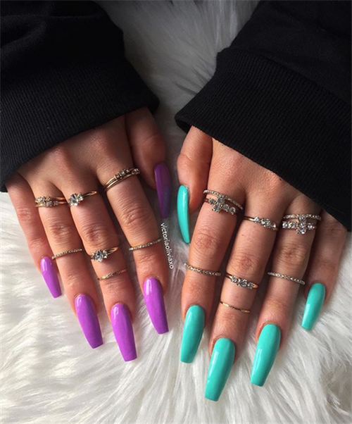 50 Acrylic Coffin Nails Art Designs For You In 2019 Summer Septor Planet Coffinnails Acrylicnails Summernails Pretty Acrylic Nails Fire Nails Gorgeous Nails