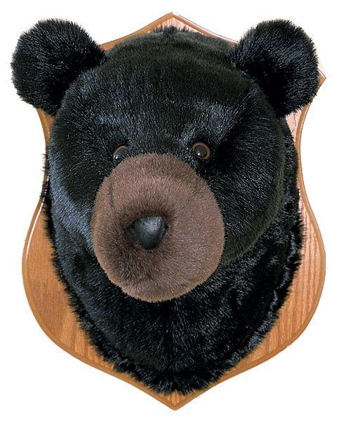 Stuffed Bear Head Black Bear Animal Heads Plush Animals