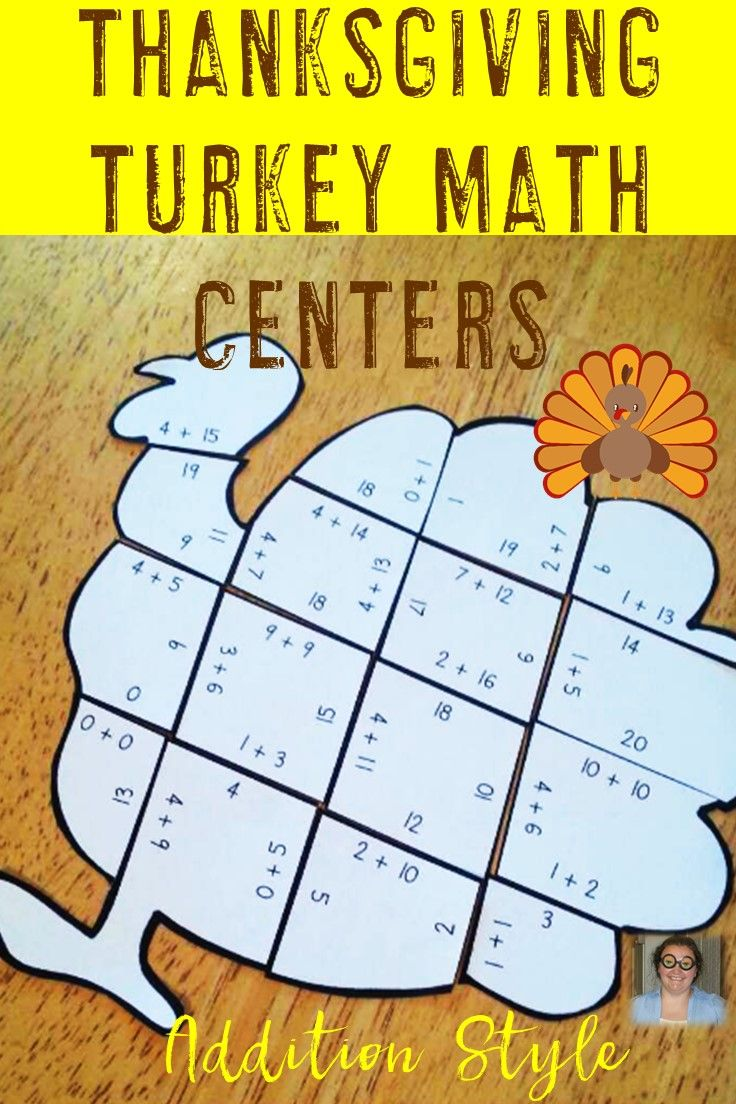 Uncategorized Turkey Puzzles thanksgiving math centers addition turkey puzzles puzzles