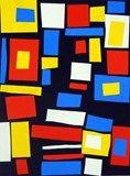 Artsonia Art Exhibit :: Collage inspired by Mondrian