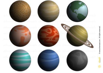 مهارة الفضاء للاطفال بطاقات الكواكب الملونة Nespresso Cups Nespresso Planets