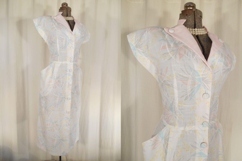 Vintage s dress s white pin up dress s style dress