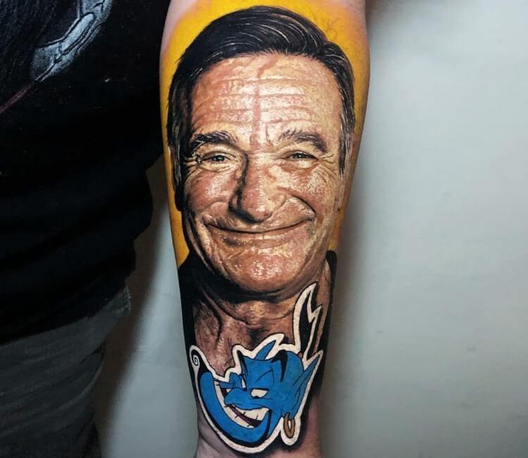 Robin Williams Tattoo By Steve Butcher Post 27419 Best Portrait Tattoo Artist Portrait Tattoo Hyper Realistic Tattoo