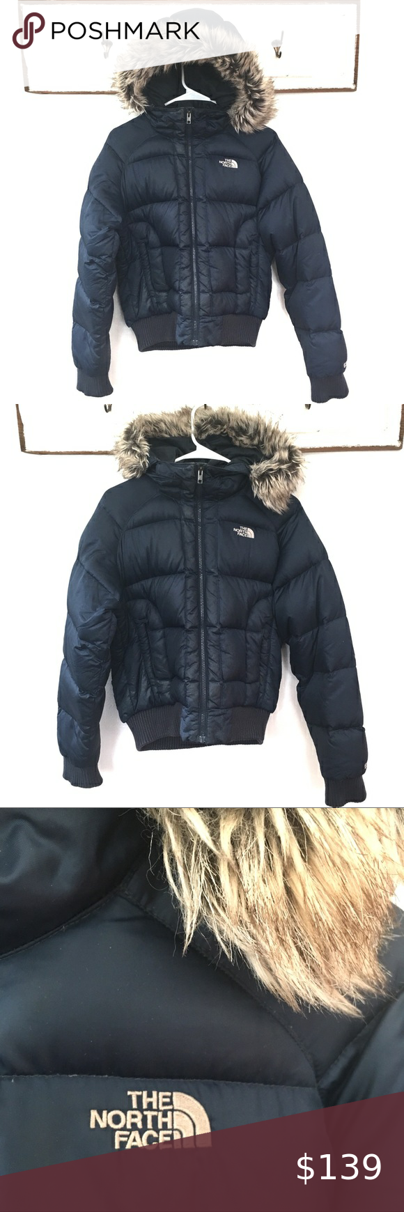 The North Face 550 Puffer Goose Down Coat Fur Hood in 2020