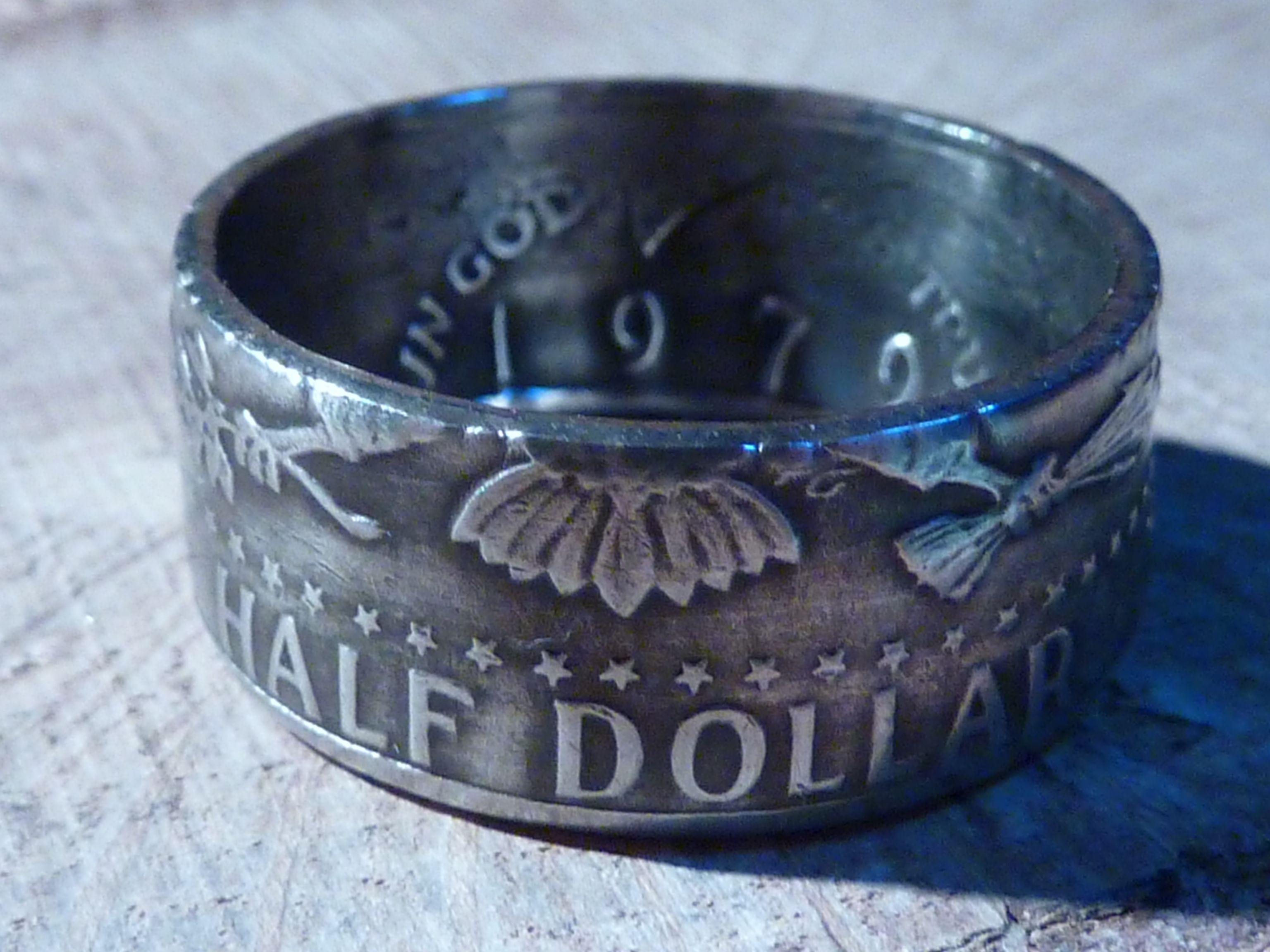 Halbe Dollar Münzen Usa Als Einzigartiger Ring Gibt Es Bei Www