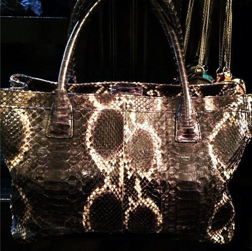 The Rome Tote #elisabethweinstock #designer #handbags #snakeskin #luxury #desgn #love