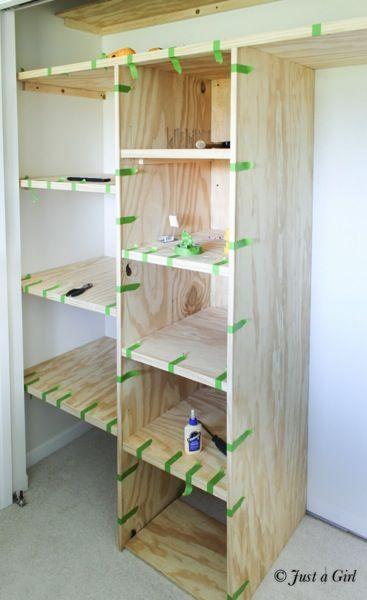 More Click How To Build Closet Shelves Master Closet