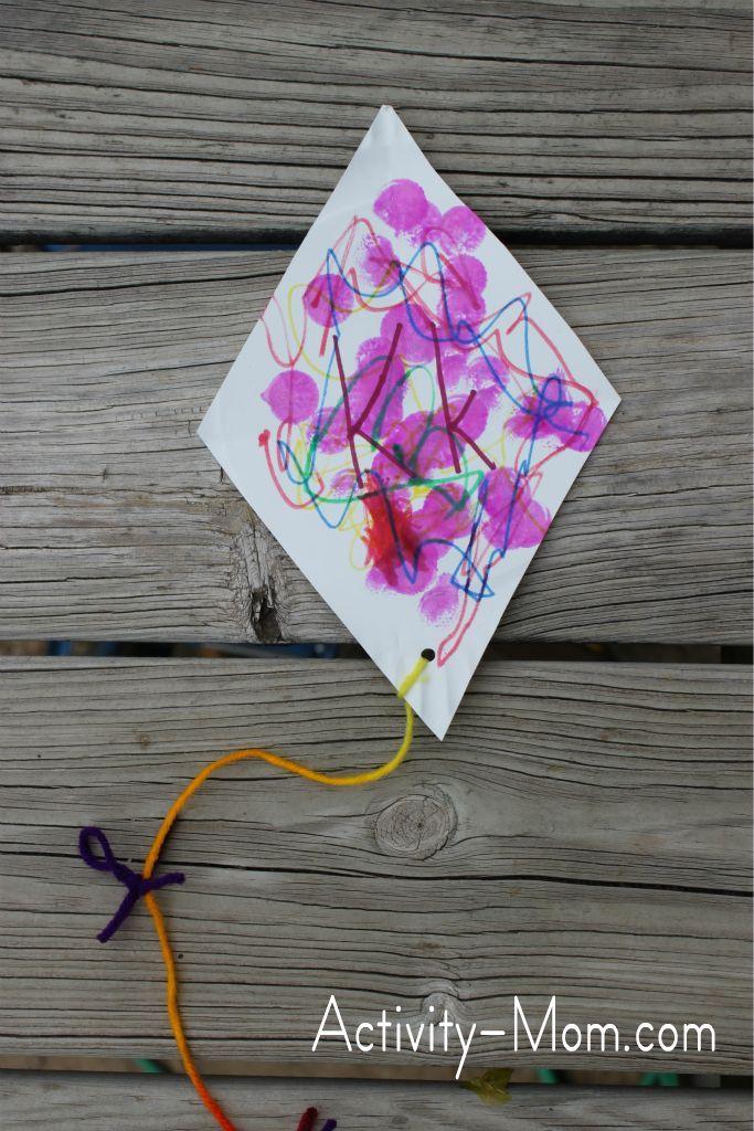 Paper Plate Alphabet Craft K Is For Kite Alphabet Activities