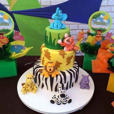 Decoracion De Baby Shower De Animales.Decoracion Baby Shower Animales Buscar Con Google Mesa