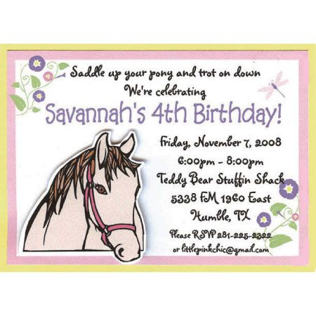 horse template invitations  horse birthday party invitations, party invitations