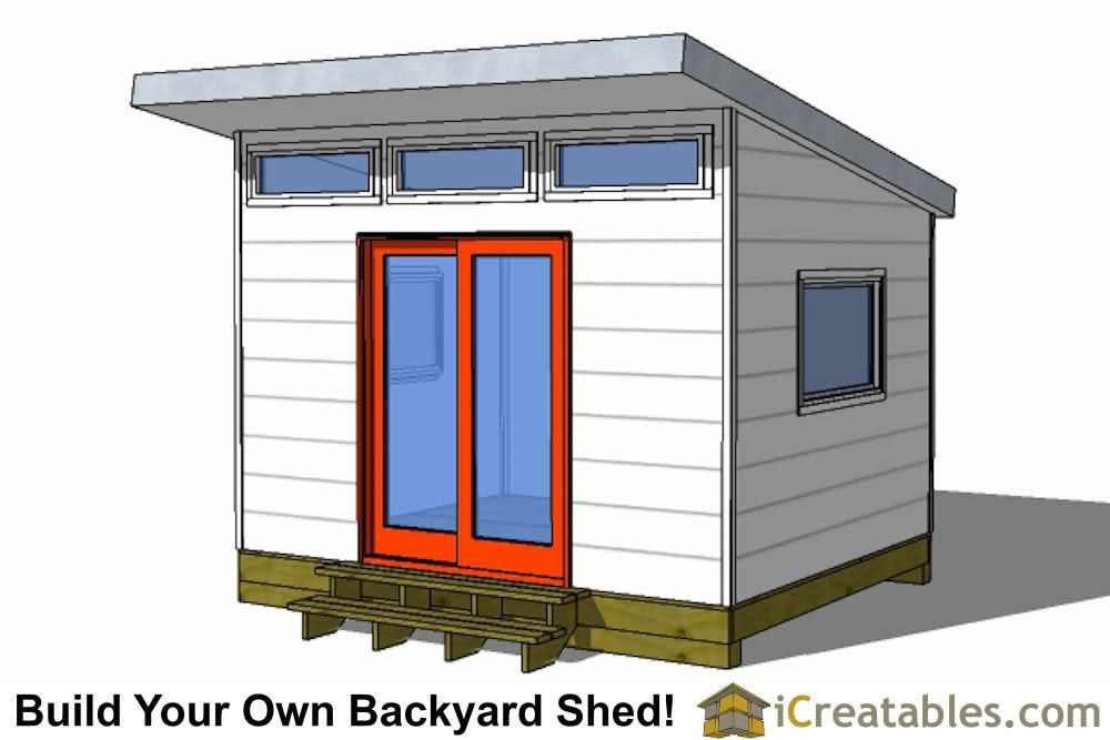 10x12 Studio Shed Plans S1 10x12 Office Shed Plans Modern Shed In 2020