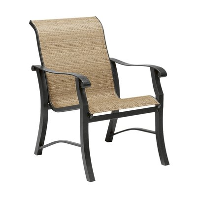 Woodard Cortland Sling Patio Dining Chair | Patio dining ... on Living Accents Cortland Patio Set id=59945