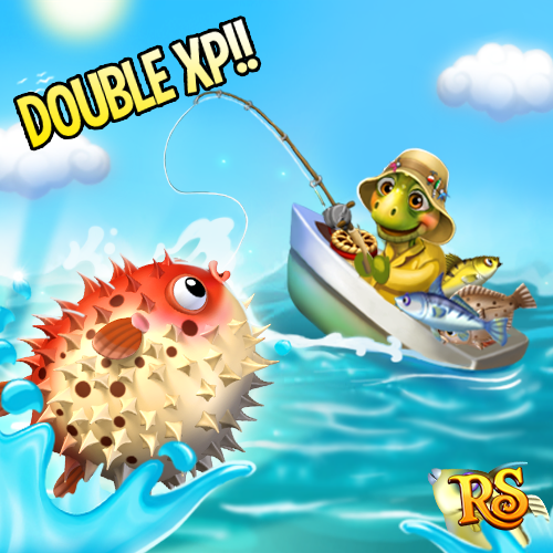 DOUBLE XP for every Fish Order Completed but for a limited