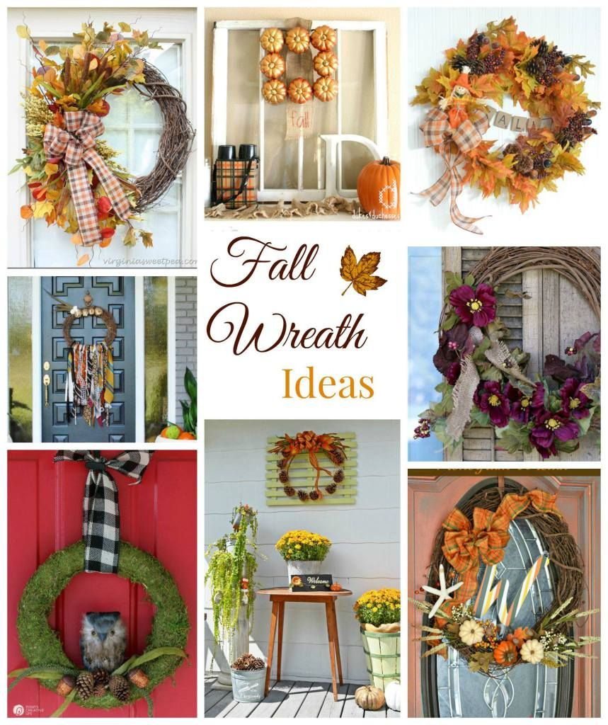 Necktie Fall Wreath, made of men's old neckties for a thrifty boho look. Part of a blog hop full of fall fun: wreaths, thrifty crafts, fall table settings and mantels to cover all your fall décor dreams!